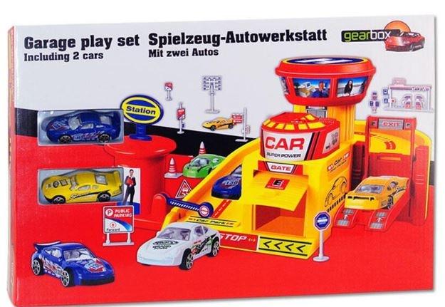 Gearbox Speelset garage met lift 28 x 19 x 20 cm