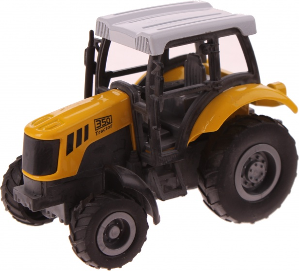 Gearbox Tractor geel: 1:43