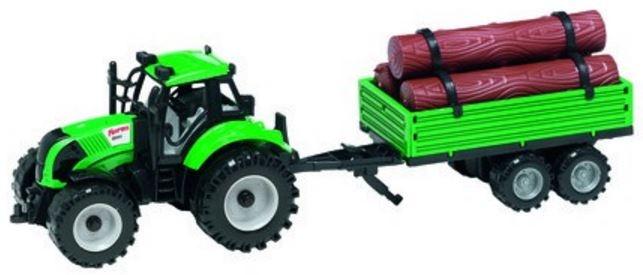 Gearbox Tractor met aanhanger groen