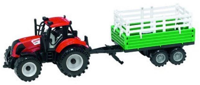 Gearbox Tractor met aanhanger rood