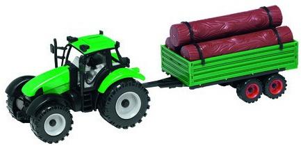 Gearbox Tractor met boomstammen oplegger 45,5 cm groen