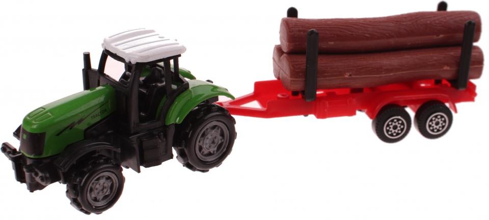 Gearbox Tractor met Houtoplegger Groen 41 cm