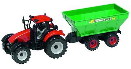 Gearbox Tractor met Mais Oplegger rood/groen 39 x 13 x 11.5 cm