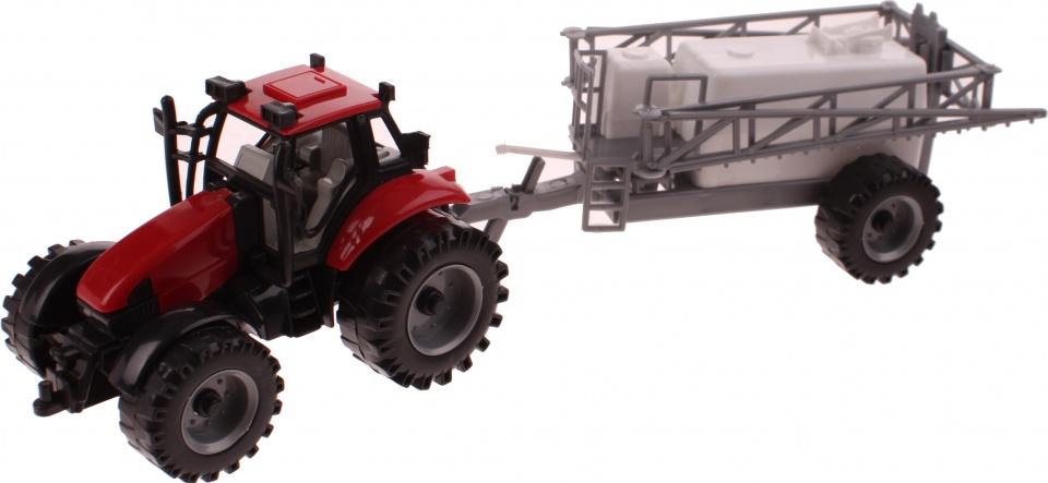 Gearbox Tractor met spuitwagen rood