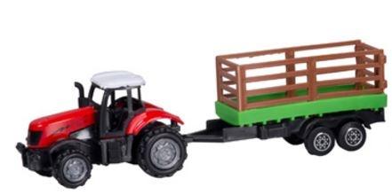 Gearbox Tractor met Trailer Rood 41 cm
