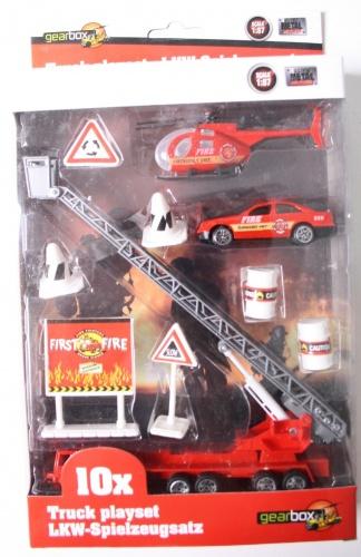 Gearbox Truck Speelset Brandweer (2) 10 Stuks