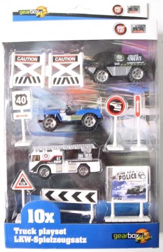 Gearbox Truck Speelset Politie (2) 10 Stuks