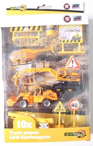 Gearbox Truck Speelset Wegwerkers (1) 10 Stuks