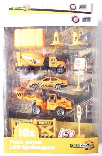 Gearbox Truck Speelset Wegwerkers (2) 10 Stuks