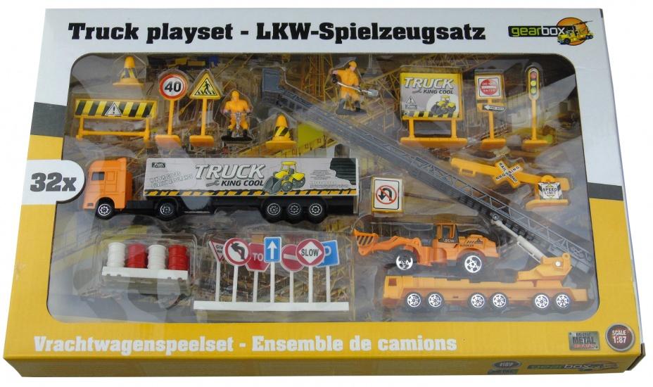 Gearbox Vrachtwagen Speelset Bouwplaats