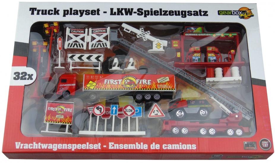 Gearbox Vrachtwagen Speelset Brandweer