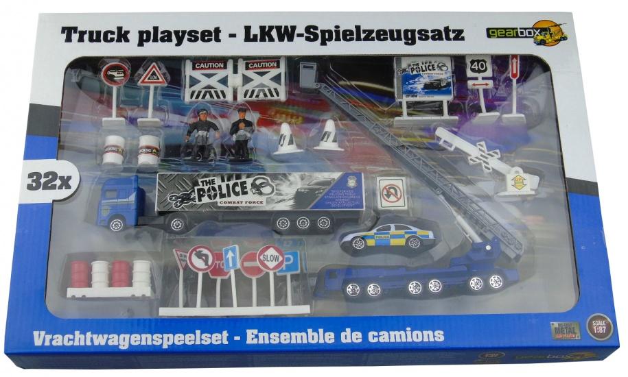 Gearbox Vrachtwagen Speelset Politie