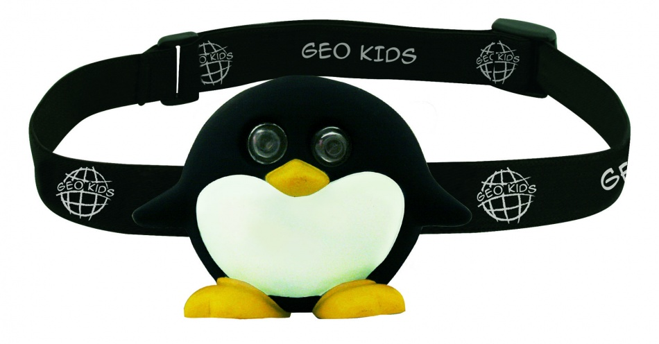 GEO Kids hoofdlamp pinguin 8.5 x 6.2 x 3.4cm