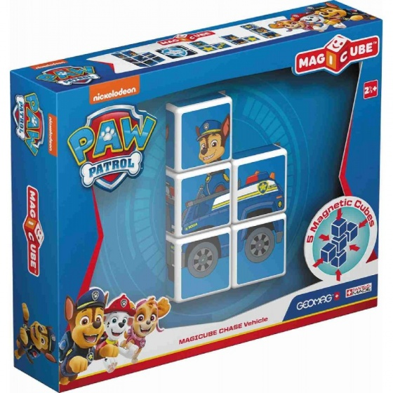 Geomag MagiCube Paw Patrol Chase Police Truck 5 delig blauw kopen