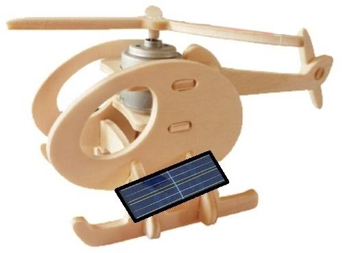 Gerardo's Toys 3D puzzel helikopter Solar 14 cm 13 delig