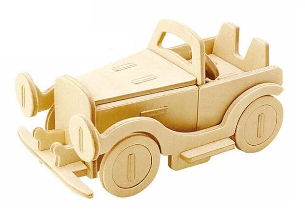 Gerardo's Toys 3D puzzel Klassieke Auto 10,5 cm 25 delig