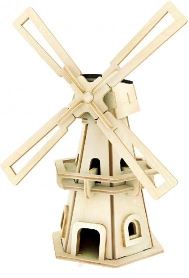 Gerardo's Toys 3D puzzel Windmolen Solar 20 cm 32 delig