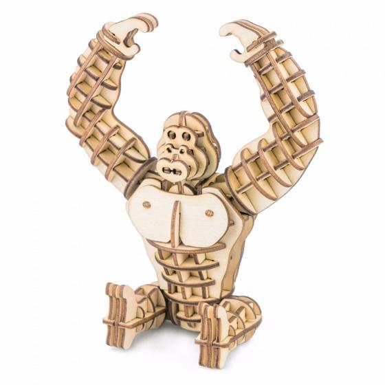 Gerardo's Toys 3D puzzel Gorilla hout 12 cm 105 delig