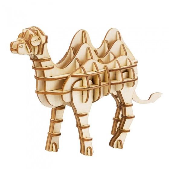 Gerardo's Toys 3D puzzel Kameel hout 14,4 cm 62 delig