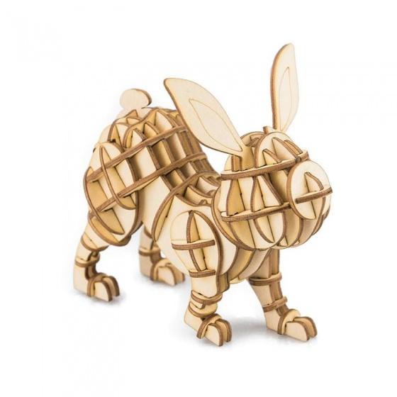 Gerardo's Toys 3D puzzel Konijn hout 10,3 cm 60 delig