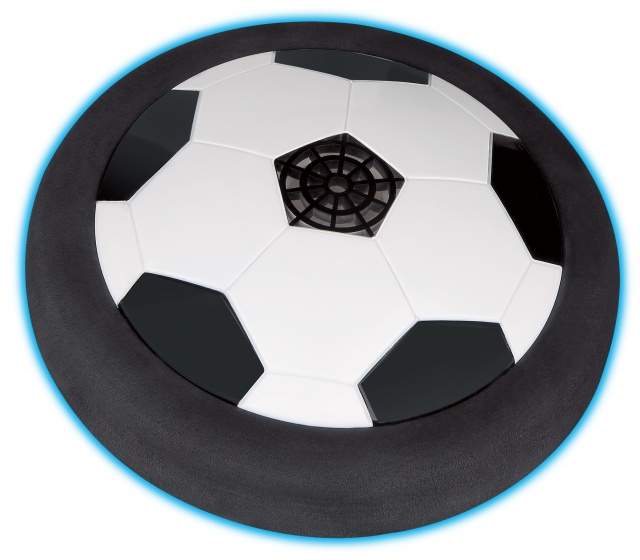 Gerardo's Toys airvoetbal 19 cm zwart/wit