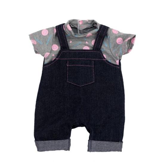 Gerardo's Toys kledingset 46 cm donkerblauw-grijs