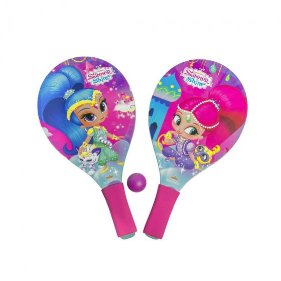Gerimport beachballset Shimmer and Shine junior 38 cm roze 3 delig