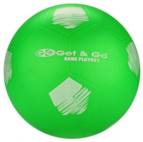 Get & Go Voetbal PVC 21 cm Groen Per Stuk