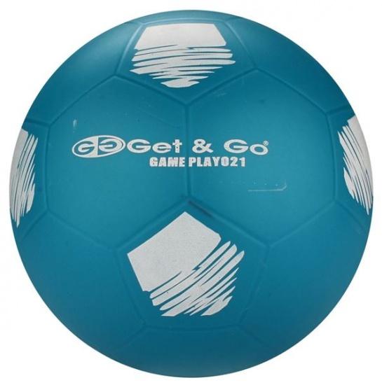 Get & Go Voetbal PVC 21 cm Blauw Per Stuk