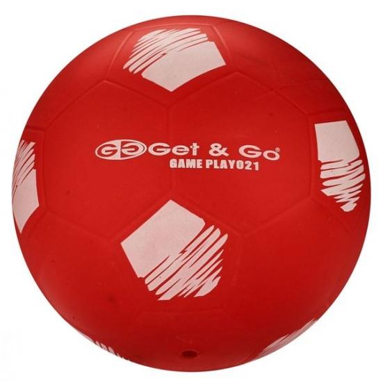 Get & Go Voetbal PVC 21 cm Rood Per Stuk