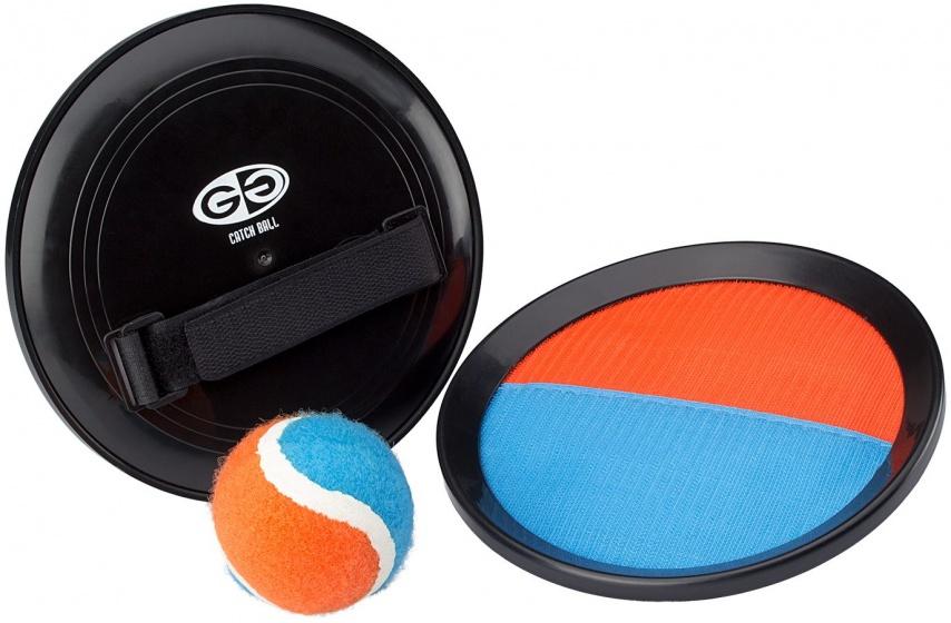 Get & Go Catchball vangset oranje/blauw 18 cm