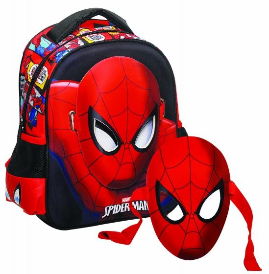 Giovas rugtas met masker Avengers: Spider Man zwart/rood 6,6 liter