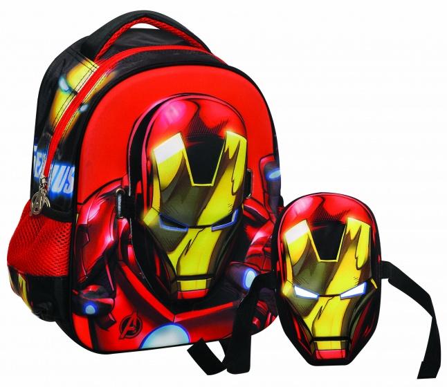 Giovas rugtas met masker Avengers: Iron Man zwart/rood 6,6 liter