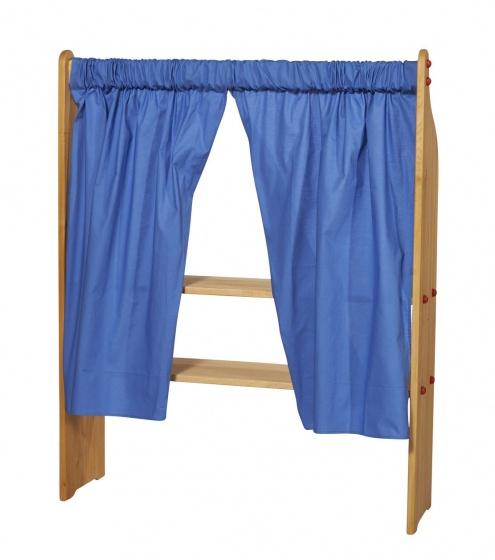 Gl�cksk�fer gordijn blauw katoen junior 140 x 100 cm 2 stuks