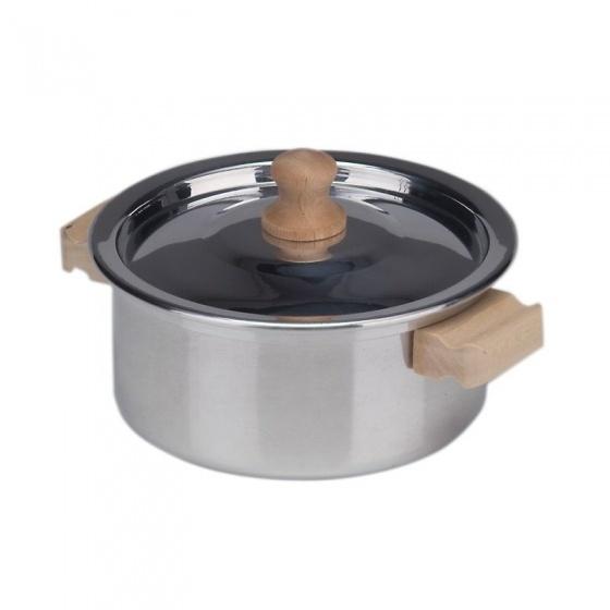 Gl�cksk�fer kookpan zilver metaal 12 cm