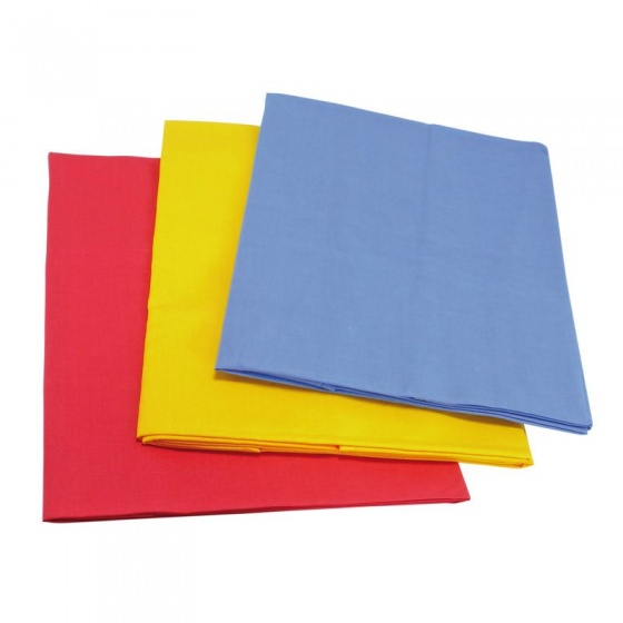 Gl�cksk�fer speelkleden rood/geel/blauw katoen 150 x 100 cm