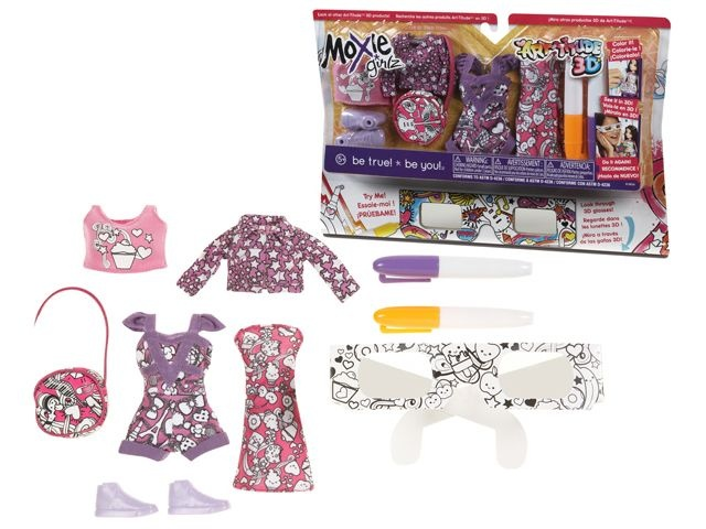 Gma Moxie Girlz Art Titude 3d Fashion Set