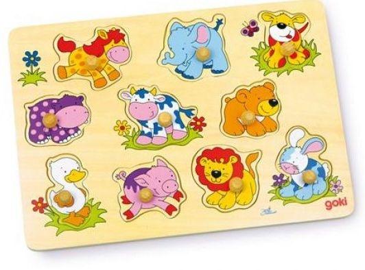 Goki 10 Delige Puzzel Dierenbabies