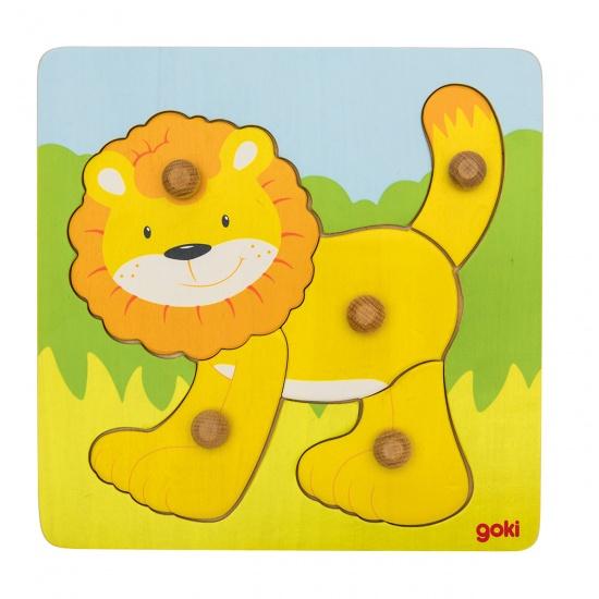 Goki 5 Delige Puzzel Leeuw