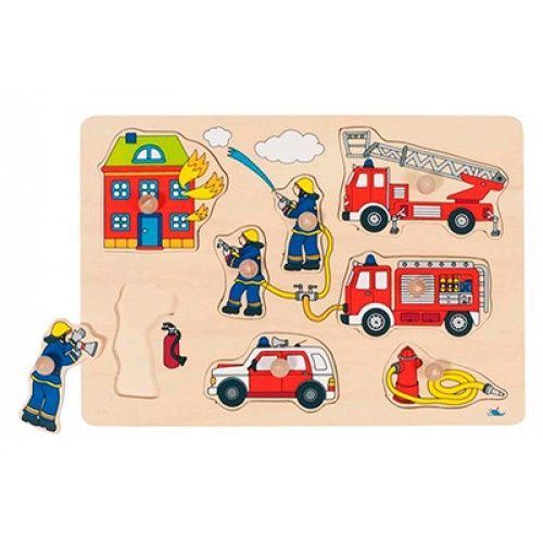 Goki 8 Delige Puzzel Brandweer