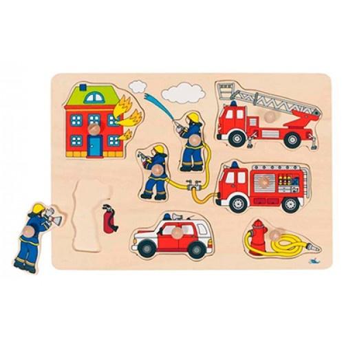 Goki 8 Delige Puzzel Brandweer
