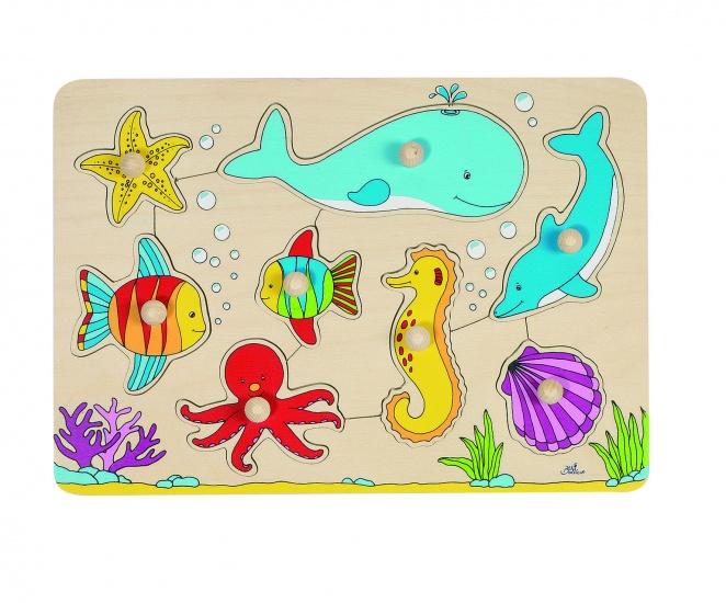 Goki Houten Puzzel Zeedieren 8 Delig