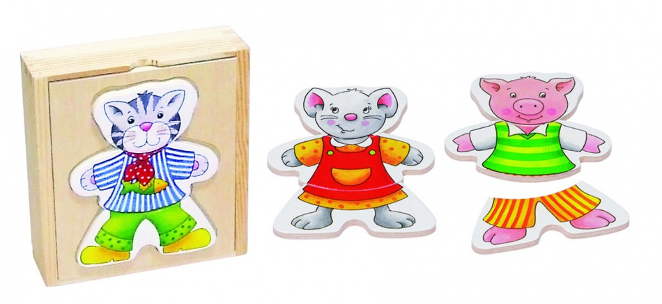 Goki Aankleedpuzzel Vrolijke Dieren