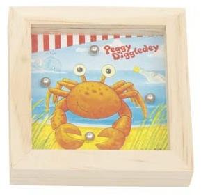 Goki Behendigheidsspel Peggy Diggledey krab 7 x 7 x 2 cm
