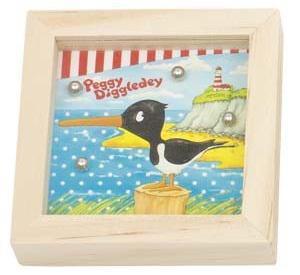 Goki Behendigheidsspel Peggy Diggledey meeuw 7 x 7 x 2 cm