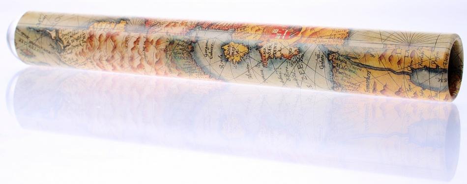 Goki Caleidoscoop Cristal: Landkaart Bruin