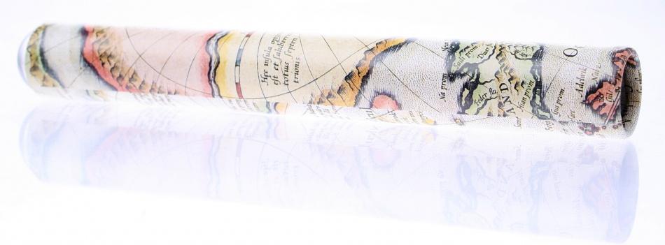 Goki Caleidoscoop Cristal: Landkaart Crème