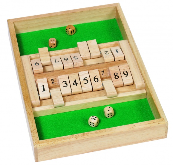 Goki Dobbelspel Shut The Box 34 x 23.5 cm