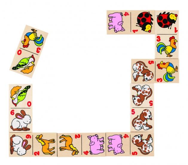Goki Houten Domino Dieren 28 Blokjes