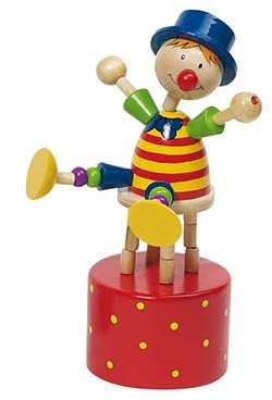 Goki Drukfiguren Clown Blauwe Muts
